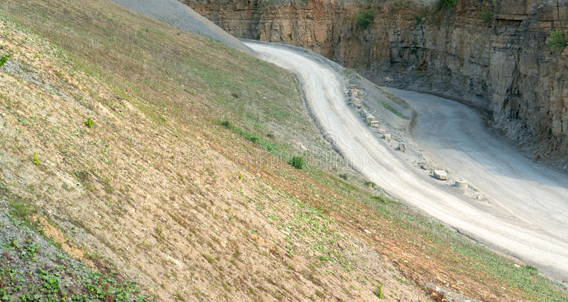 Gravel quarry royalty free stock photography