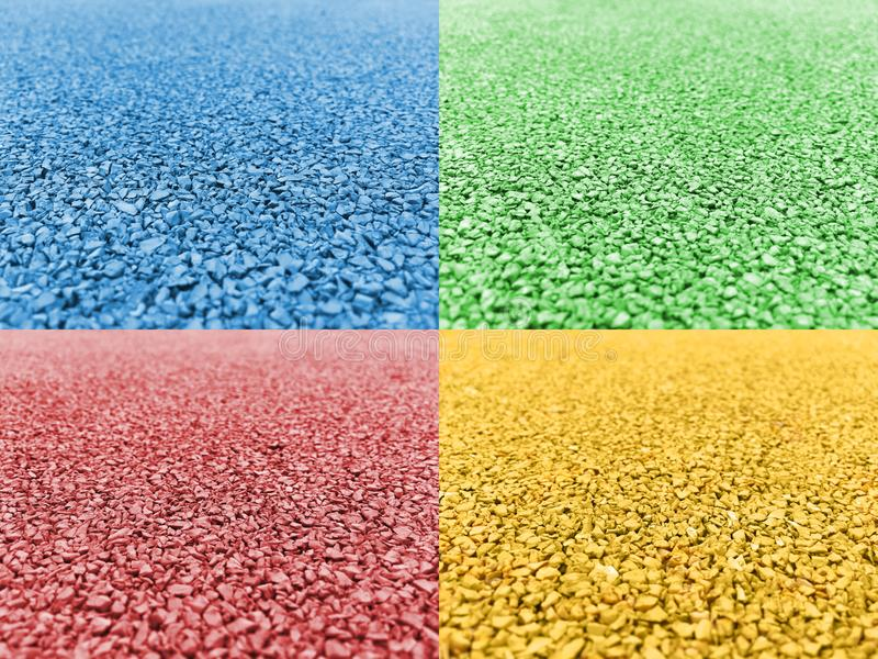 Download Gravel Road Blue Green Pink Yellow Stock Photo - Image of concrete, background: 112388734