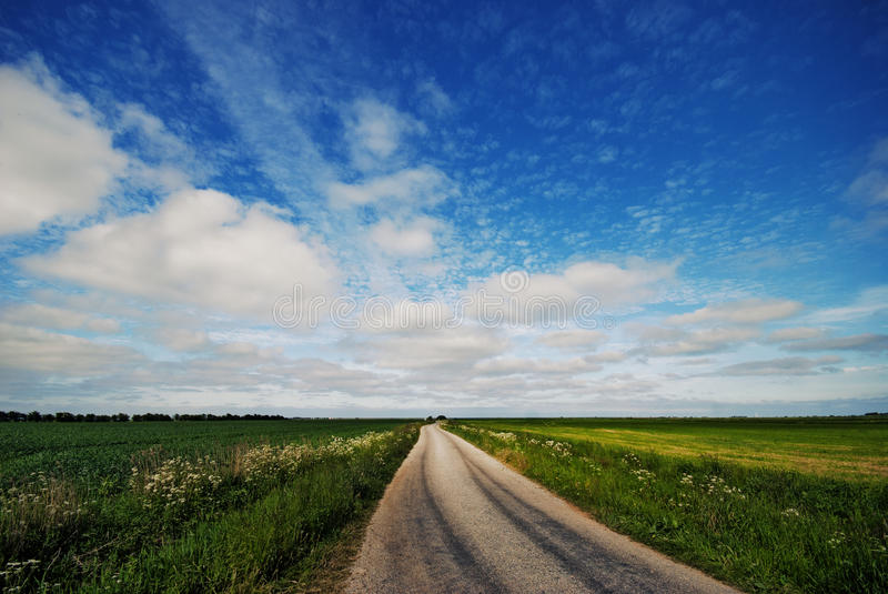 Download Gravel road stock image. Image of empty, grass, green - 33790995