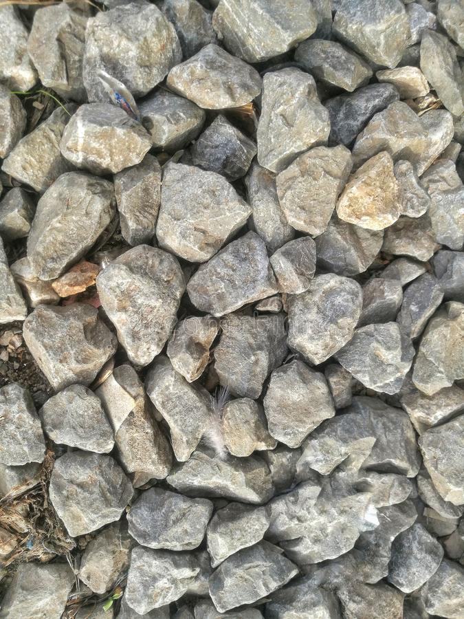 the gravel stone background. the stone background. stock photo