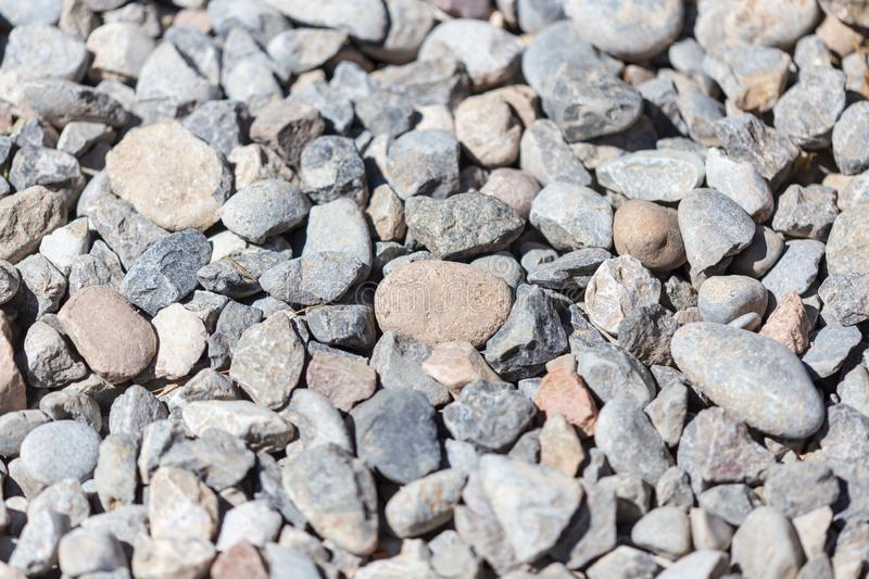 Gravel construction worker as abstract background royalty free stock photos