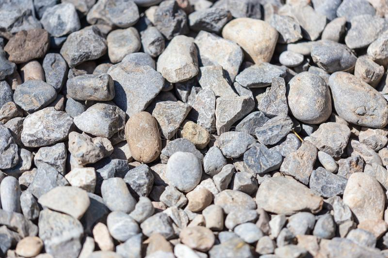 Gravel construction worker as abstract background stock photography