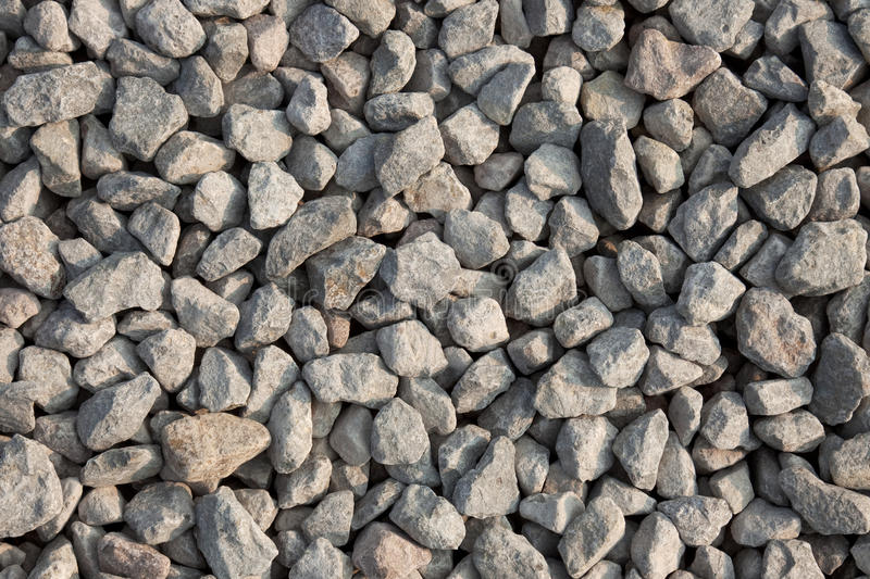 Gravel texture. From the top. Artificially broken pebbles on the ground stock photo