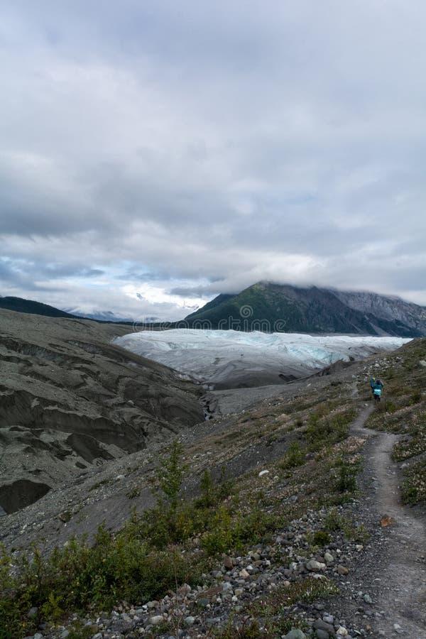 Trail to Root Glacier stock photo