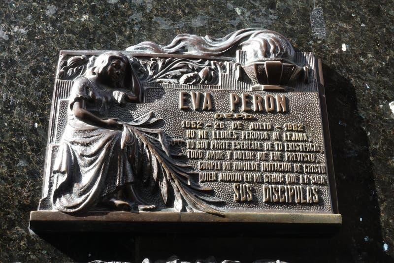 Graven av Eva Peron royaltyfri bild