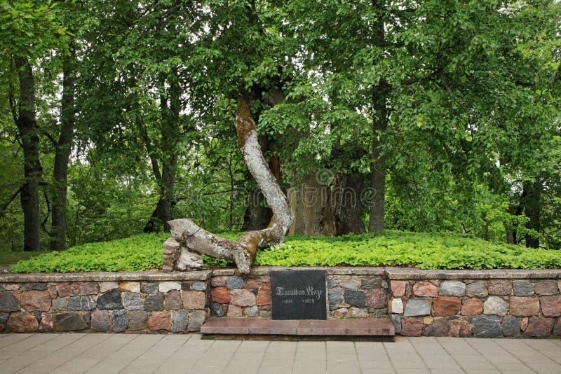 Graven av Turaida steg i Turaida nära Sigulda latvia royaltyfria bilder