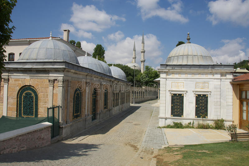 Graven in Eyup Istanboel Turkije royalty-vrije stock foto