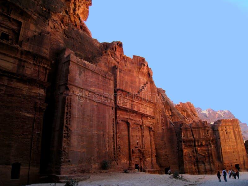 Graven in Petra, Jordanië royalty-vrije stock foto's