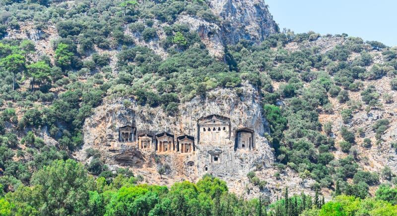 Graven van de Kaunos-Koning, Turkije stock afbeelding