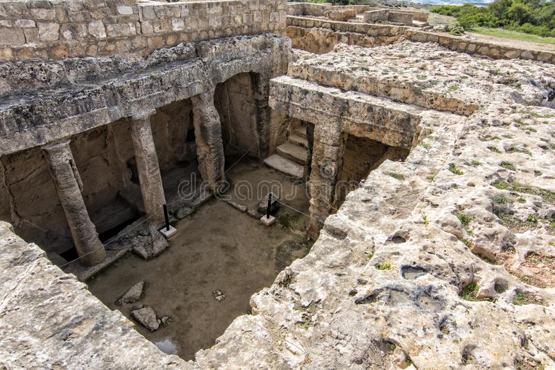Graven van de Koningen, toeristische attractie Cyprus royalty-vrije stock afbeelding