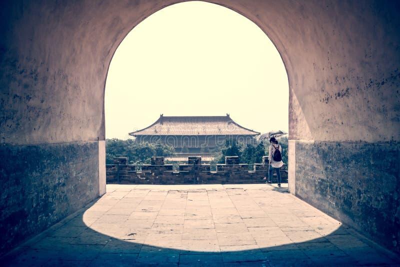 Graven van keizers in Ming Dynasty, Peking stock foto's