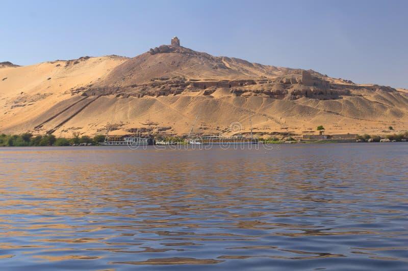 Graven van Nobles (Aswan, Egypte) royalty-vrije stock afbeelding
