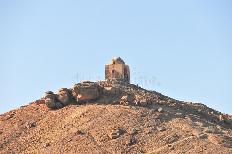 Graven van Nobles - Aswan, Egypte royalty-vrije stock foto