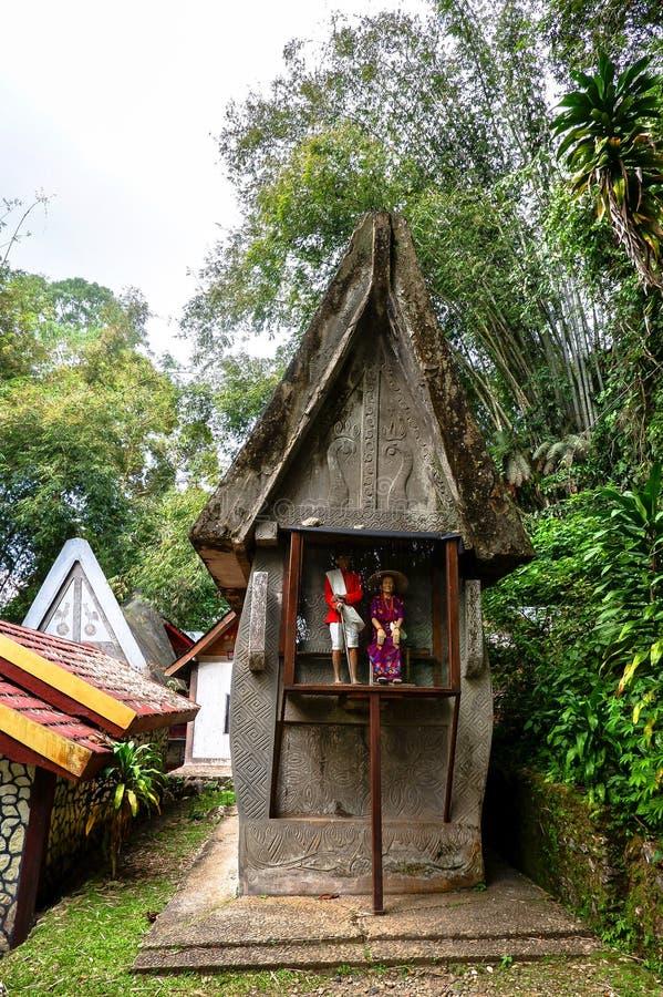 Graven van Torajan in Sulawesi, Indonesië stock afbeeldingen