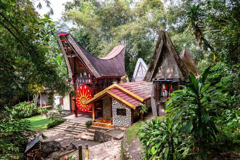 Graven van Torajan in Sulawesi, Indonesië royalty-vrije stock afbeelding