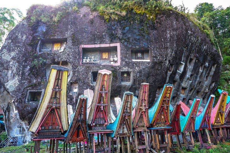 Graven van Torajan in Sulawesi, Indonesië royalty-vrije stock foto