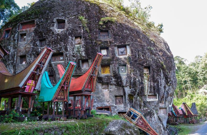 Graven van Torajan in Sulawesi, Indonesië royalty-vrije stock fotografie