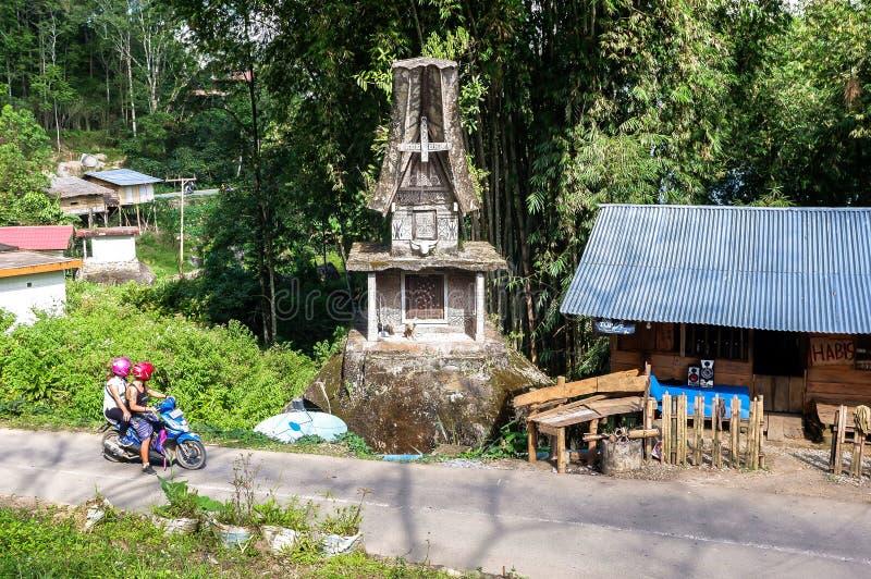 Graven van Torajan in Sulawesi, Indonesië stock afbeelding