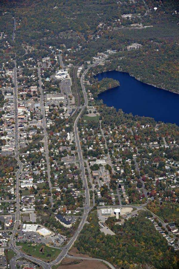 Gravenhurst Онтарио, воздушное стоковое фото rf