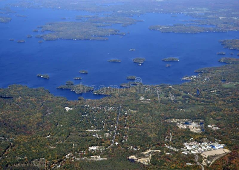 Gravenhurst Онтарио, воздушное стоковое изображение