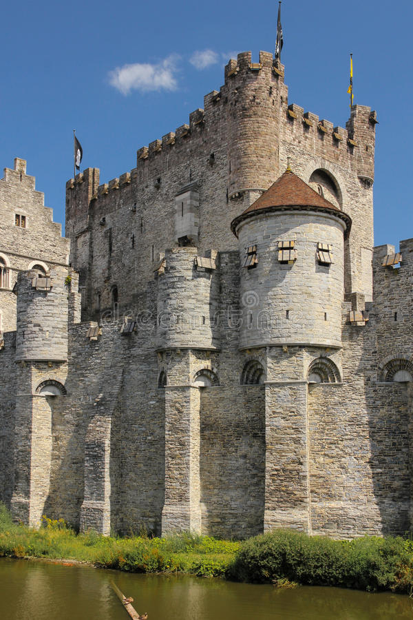 Gravensteen Замок отсчетов ghent belia стоковая фотография