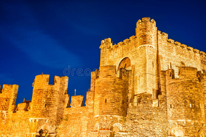 Gravensteen Castle, Gent, Belgium royalty free stock photo