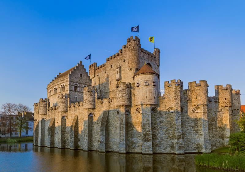 Gravensteen-Schloss im Herrn - Belgien lizenzfreies stockfoto