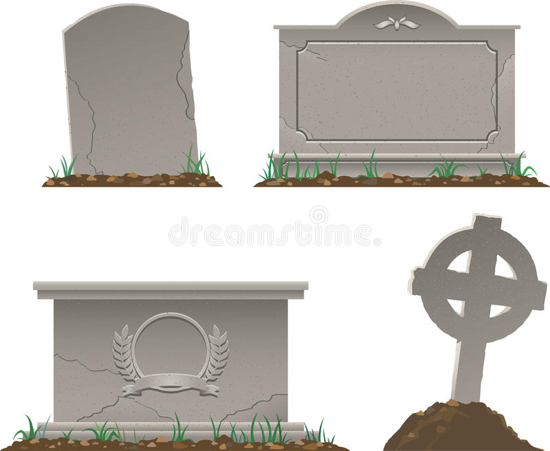 Graves vector illustration