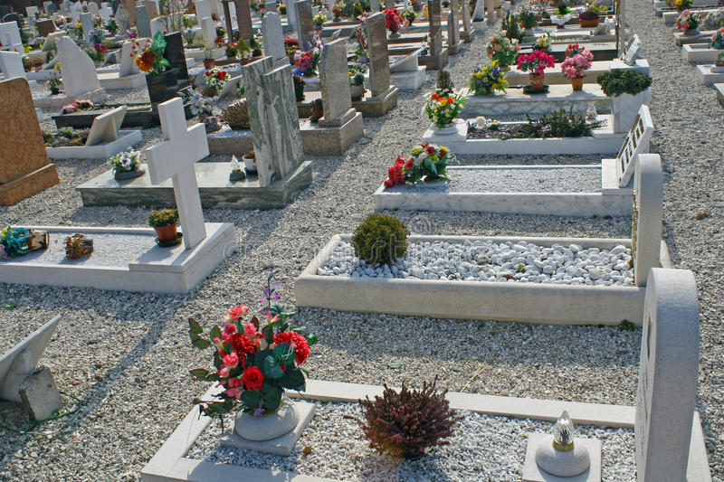 Download Graves  Headstones And Crucifixes Stock Image - Image of afterlife, flowers: 23875839