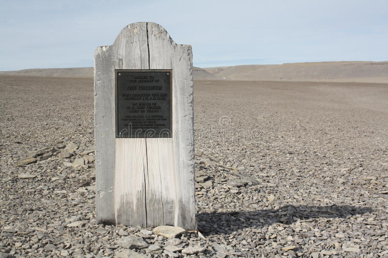 Graves in Nunavut royalty free stock photography