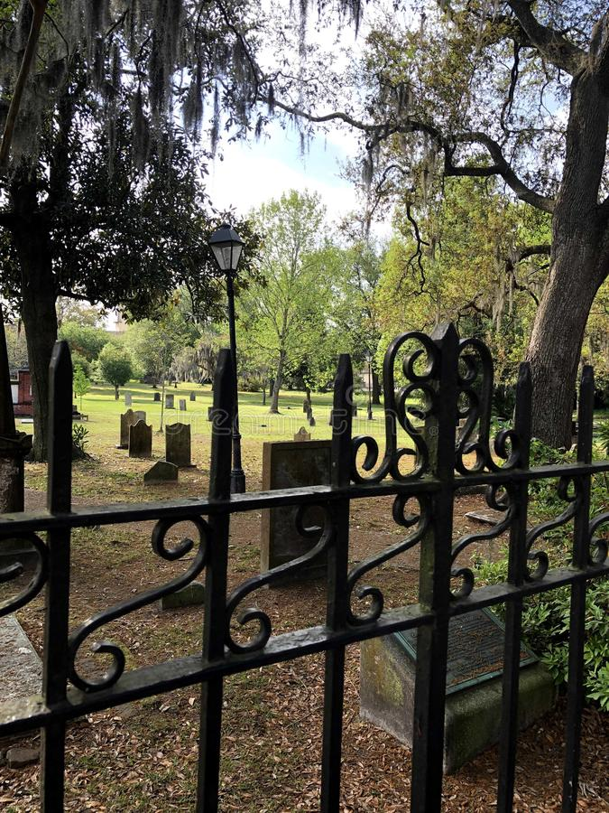 Graves in Savannah royalty free stock images