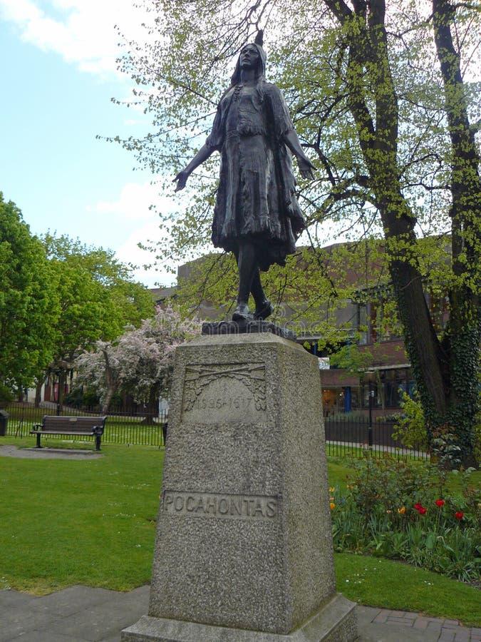 Gravesend - Pocahontas y x28; Rebecca Rolfe y x29; sepulcro imagen de archivo libre de regalías