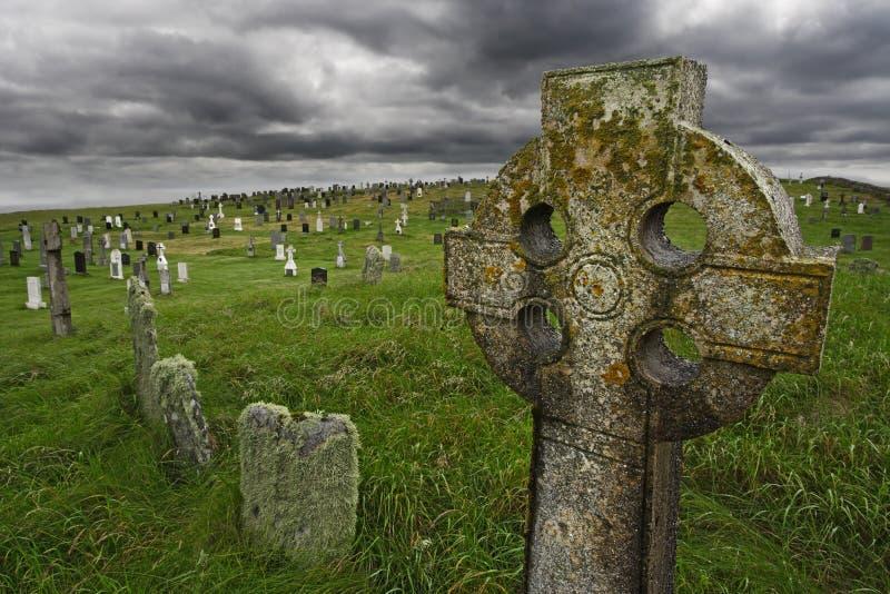 Gravesite celta velho imagens de stock