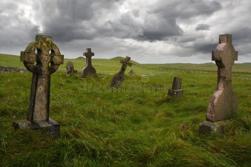 Gravesite celtico antico fotografie stock