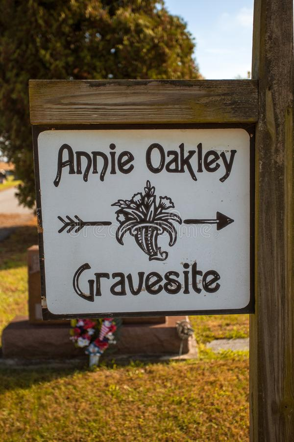Gravesite de Annie Oakley em Ohio foto de stock royalty free