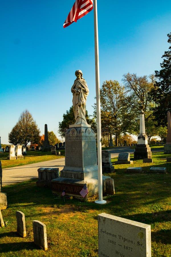 Gravesite-Monument von Jennie Wade stockbilder