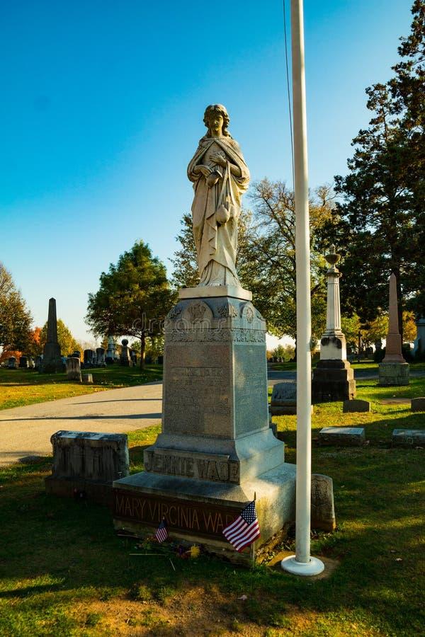 Gravesite von Jennie Wade stockfotos
