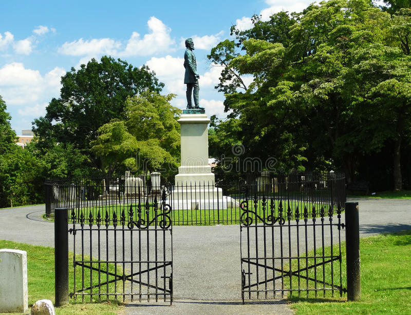 Gravesiten av Stonewall Jackson royaltyfri foto