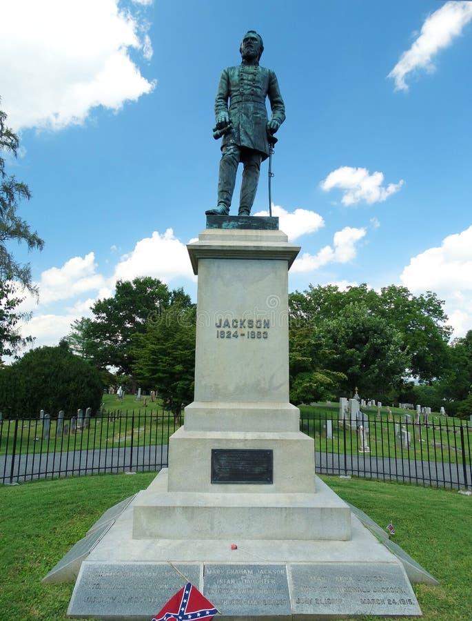 Gravesiten av Stonewall Jackson arkivbild