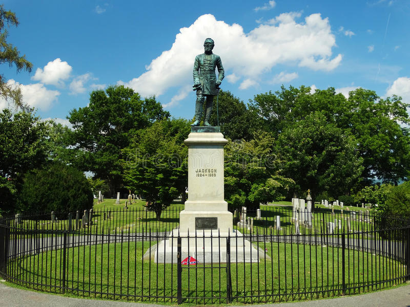 Gravesiten av Stonewall Jackson royaltyfri bild