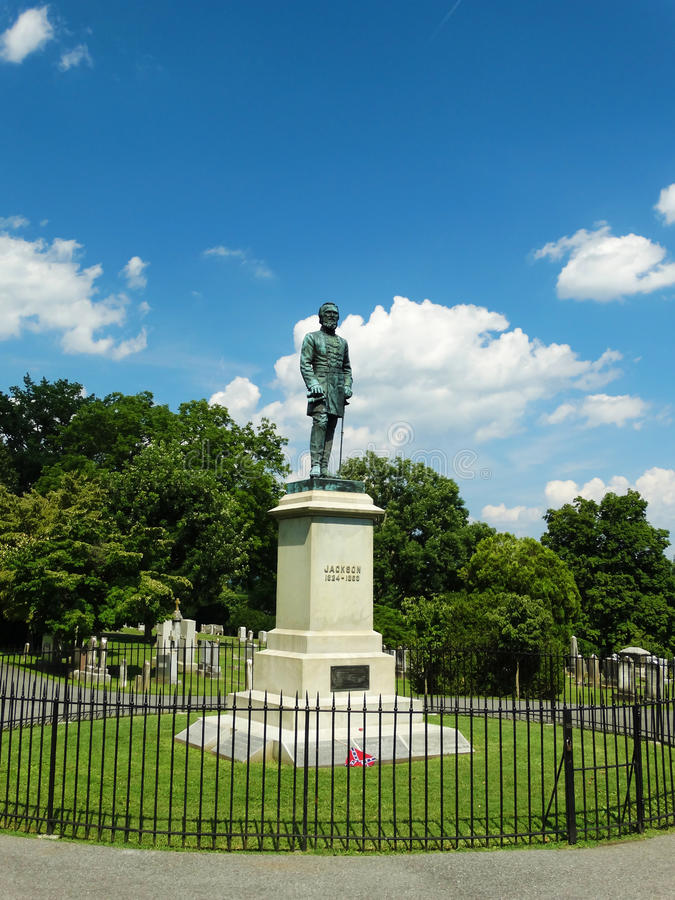 Gravesiten av Stonewall Jackson royaltyfria foton