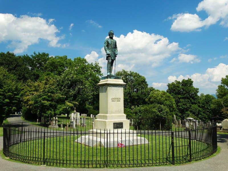Gravesiten av Stonewall Jackson arkivfoton