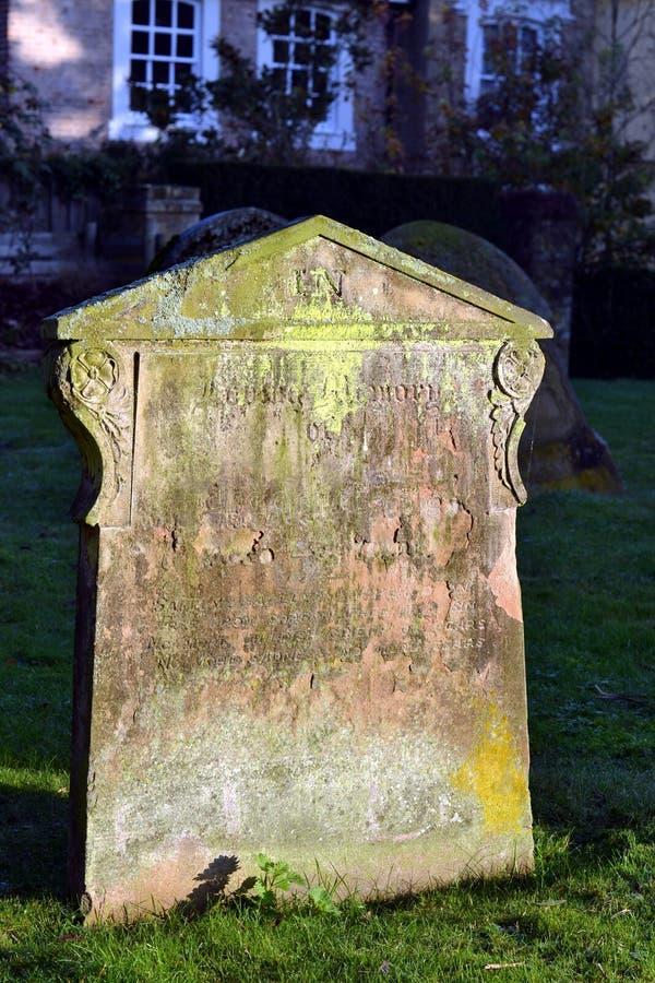 Gravestone stock photo