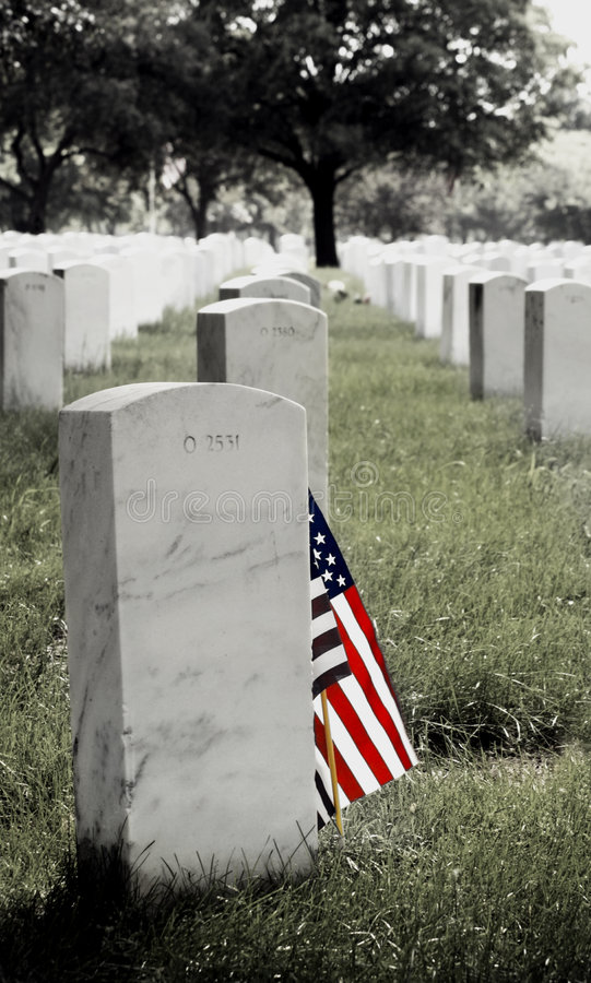 Download Gravestone And American Flag Stock Photo - Image of american, military: 839168