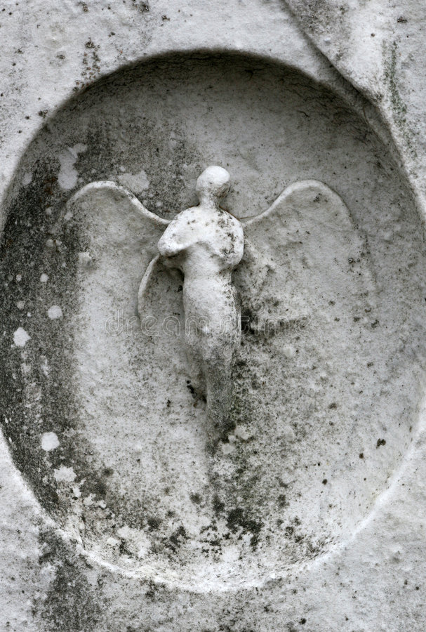 Gravestone angel royalty free stock photo