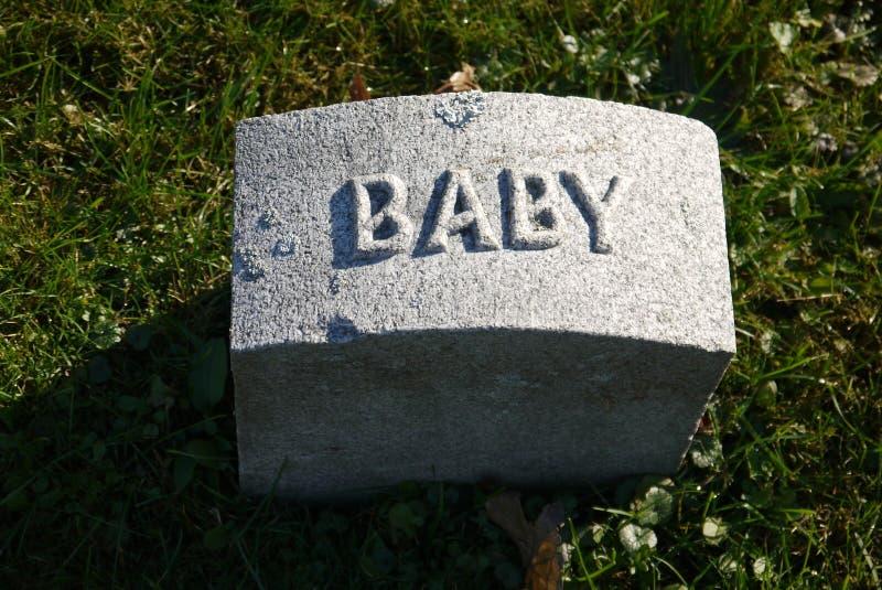 Gravestone: baby stock photo