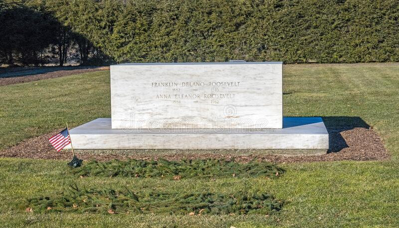 Gravestone FDR en Eleanor royalty-vrije stock afbeelding