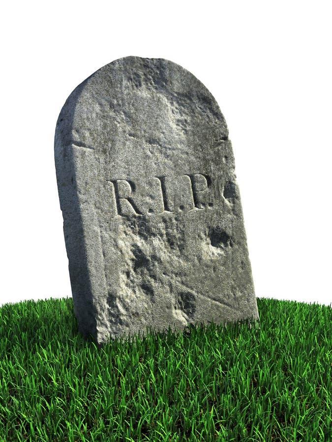 Gravestone On The Grass Stock Photo