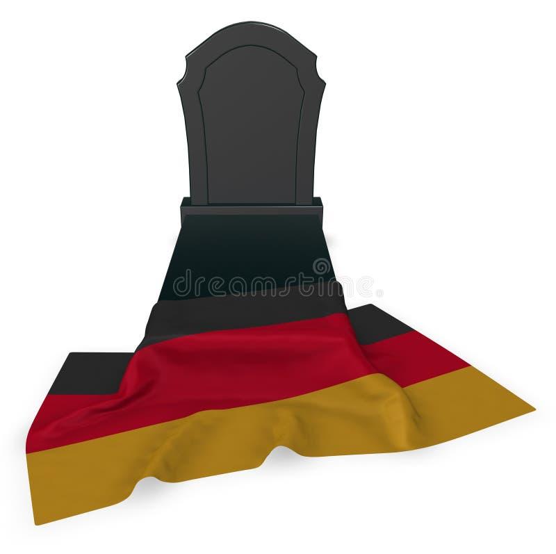 Gravestone i flaga Germany ilustracji
