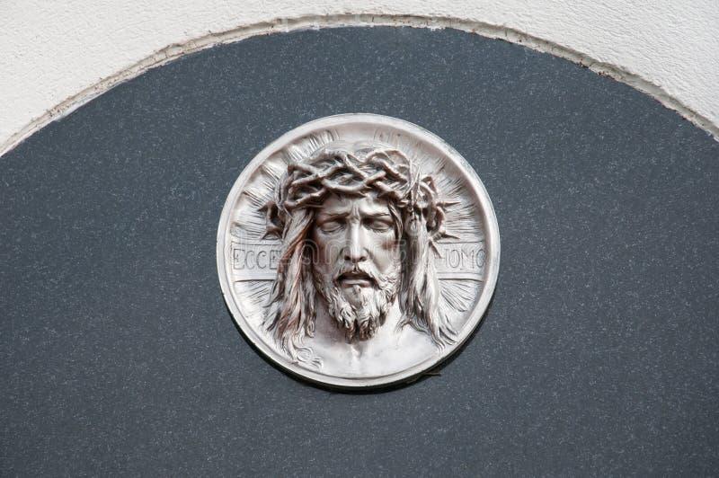 Gravestone with jesus royalty free stock image